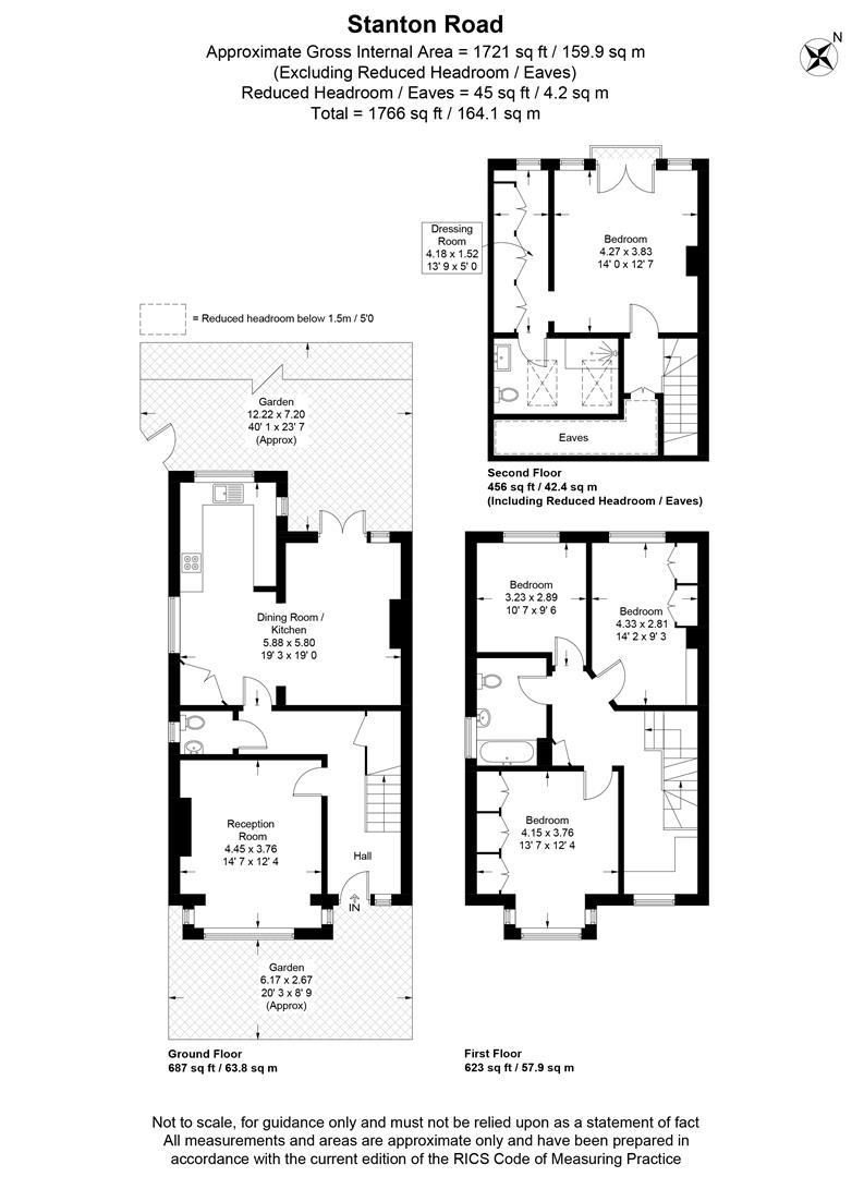 Floorplan for Stanton Road, London